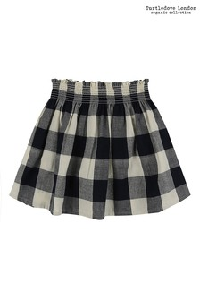 Turtledove London Black Check Woven Skirt
