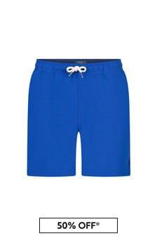 Ralph Lauren Kids Boys Yellow Swim Shorts