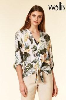 Wallis Yellow Tropic Burnout Shirt