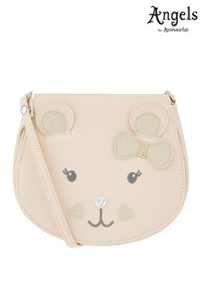 Angels by Accessorize Nude Beatrice Bear PU Across-Body Bag