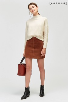 Warehouse Suede Pelmet Skirt
