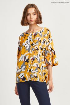 French Connection Yellow Floral Top
