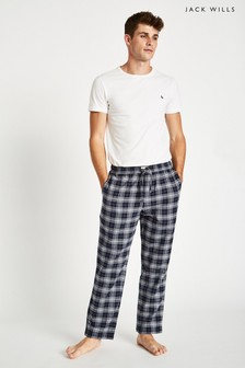Jack Wills Blue Blakebrook Flannel Lounge Pant