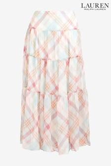 Lauren Ralph Lauren® Cream Check Skirt
