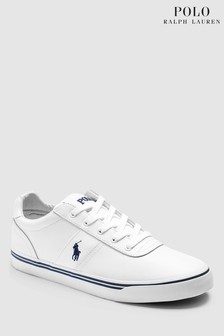 Ralph Lauren White Leather Hanford Trainer