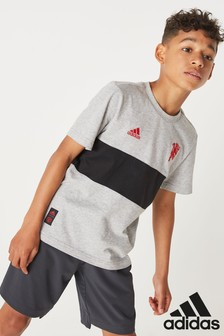 adidas Grey Manchester United Graphic T-Shirt