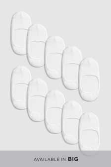 Cushioned Sole Invisible Trainer Socks Ten Pack