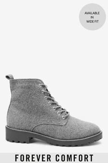 Ботинки на шнуровке с ребристой подошвой Forever Comfort®