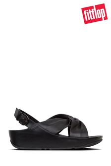 FitFlop™ Black Ruche Twist Grace Sandal