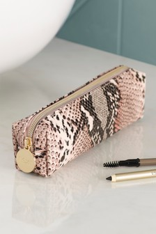 Snake Print Brush Bag
