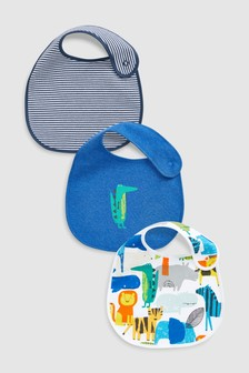 Crocodile Character Regular Bibs Three Pack