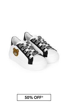 Moschino Kids Kids White Leather Trainers