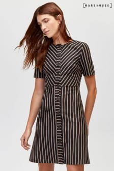 Warehouse Cut About Stripe Dress