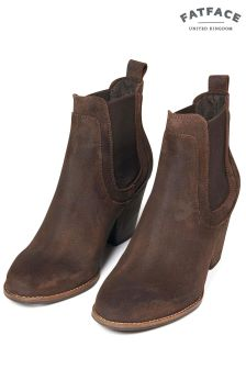 FatFace Brown Hazel Chelsea Heel Boot