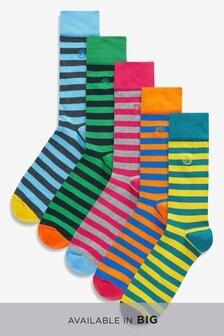 Block Stripe Socks Five Pack