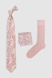 Dancy's Made In England Socks, Tie And Pocket Square Set