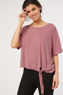 Linen Blend Knot T-Shirt