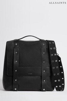 All Saints Black Sid Leather Backpack