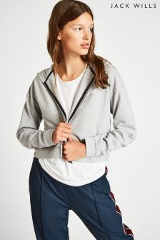 Jack Wills Grey Marl Lewis Zip-Up Hoody