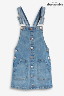 Abercrombie & Fitch Blue Denim Pinny Dress