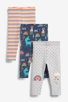 3 Pack Embellished Bright Leggings (3mths-7yrs)