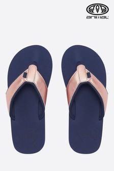 Animal Blue Swish Upper Flip Flop