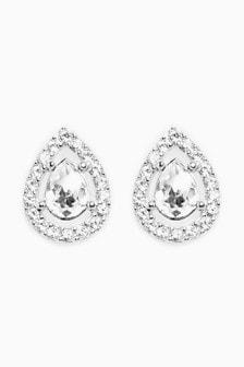 Pavé Stud Earrings With Swarovski® Crystals
