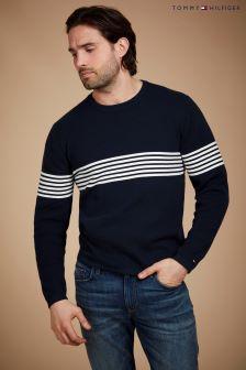 Tommy Hilfiger Chest Stripe Crew Neck Sweater