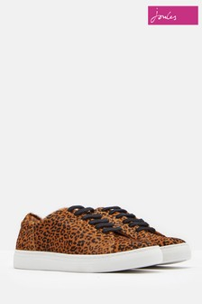 Joules Ocelot Solena Luxe Hair On Hide Trainer