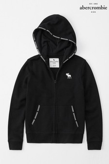 Abercrombie & Fitch Black Zip Hoody