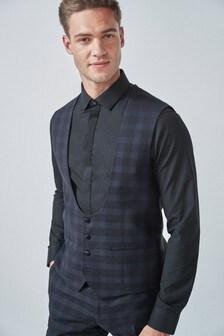 Check Tuxedo Suit: Waistcoat