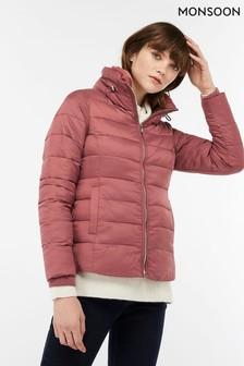 Monsoon Pink Vanessa Padded Jacket