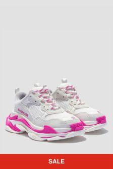 Balenciaga Kids Unisex Pink Trainers