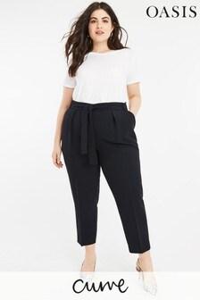 Oasis Blue Curve Peg Trouser