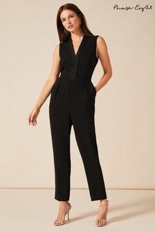 Phase Eight Black Tux Jumpsuit