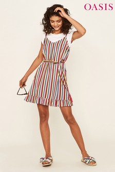 Oasis Multi Stripe Dress