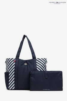 Tommy Hilfiger Blue Baby Changing Tote