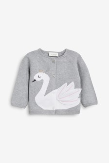 Swan Cardigan (0mths-2yrs)