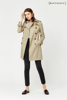 Warehouse Cream Classic Trench Coat