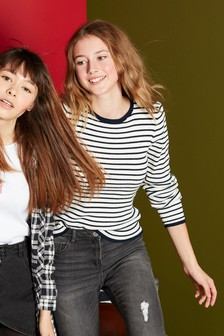 Stripe Crew Neck Top (3-16yrs)