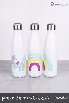 Personalised Unicorn Water Bottle by Loveabode