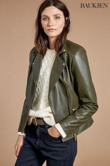 Baukjen Green Kara Leather Jacket