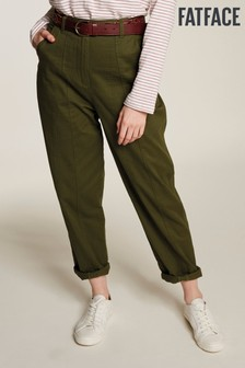 FatFace Green Jade Panelled Trousers