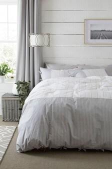 Ticking Stripe Duvet Cover and Pillowcase Set