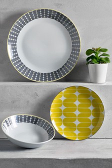 12 Piece Geometric Dinner Set