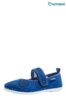 Темно-синие сандалии с 1 ремешком и сердцем Kotofey