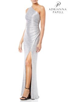 Adrianna Papell One Shoulder Long Dress