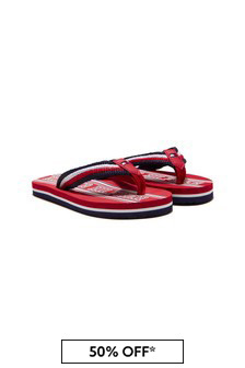 Tommy Hilfiger Kids Red Sandals