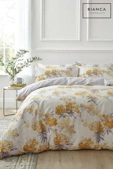 Bianca Juliana Floral 400 Thread Count Cotton Sateen Duvet Cover and Pillowcase Set