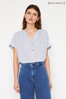 Warehouse Stripe Short Sleeve Top